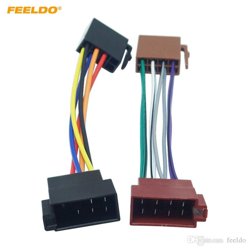 2019 feeldo car iso radio plug adapter harness for volkswagen audio power &  loudspeaker iso 2 heads male to female installation cable #1954 from  feeldo,