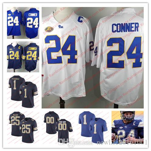 914b9d4bc Custom NCAA Pittsburgh Panthers Pitt 8 Kenny Pickett 24 James Conner Larry  Fitzgerald 2 Maurice Ffrench 5 Tre Tipton College Football Jersey UK 2019  From ...
