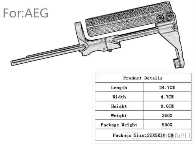 Stock PDW Style Vendita calda Nuovo arrivo Tactical Tactical for Wargame solo AR-15 M4 GBB AEG System Version Aluminumacarbon Fiber Spedizione gratuita