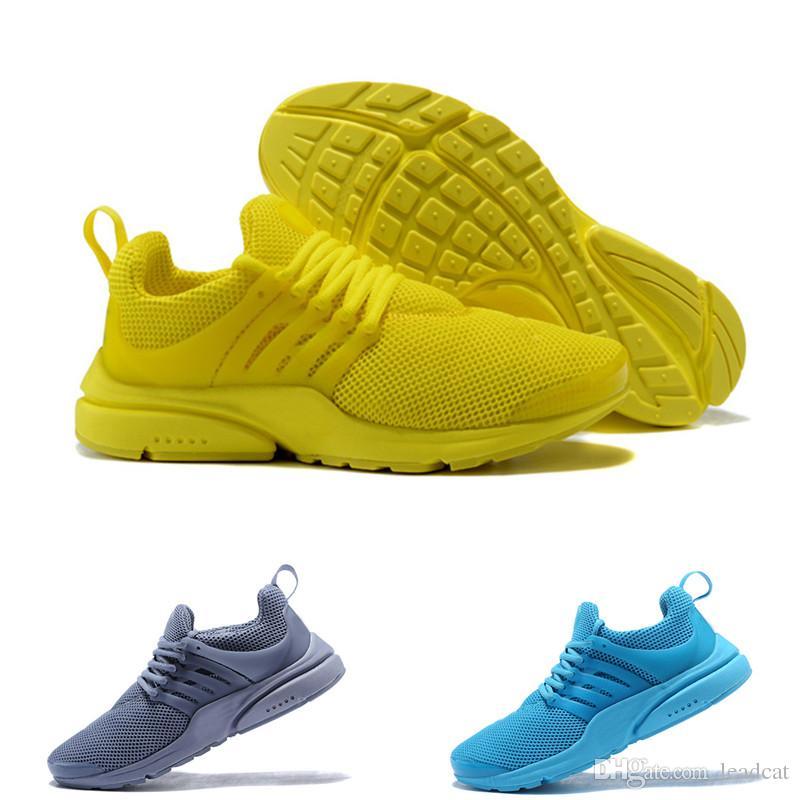 ad3a56f008 New 2018 Prestos 5 Running Shoes Men Women Presto Ultra BR QS Yellow ...