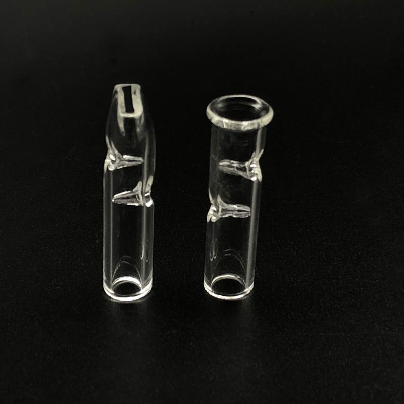 DHL shipping!! Mini Glass Filter Tips for Dry Herb Tobacco RAW Rolling Papers With Tobacco Smoking Cigarette Holder Thick Pyrex Glass Pipes