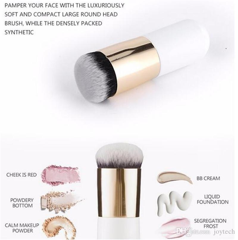 New Chubby Pier Foundation Brush Pennelli trucco crema piatta Pennelli trucco cosmetici professionali BB Portable Cream Flat ship free