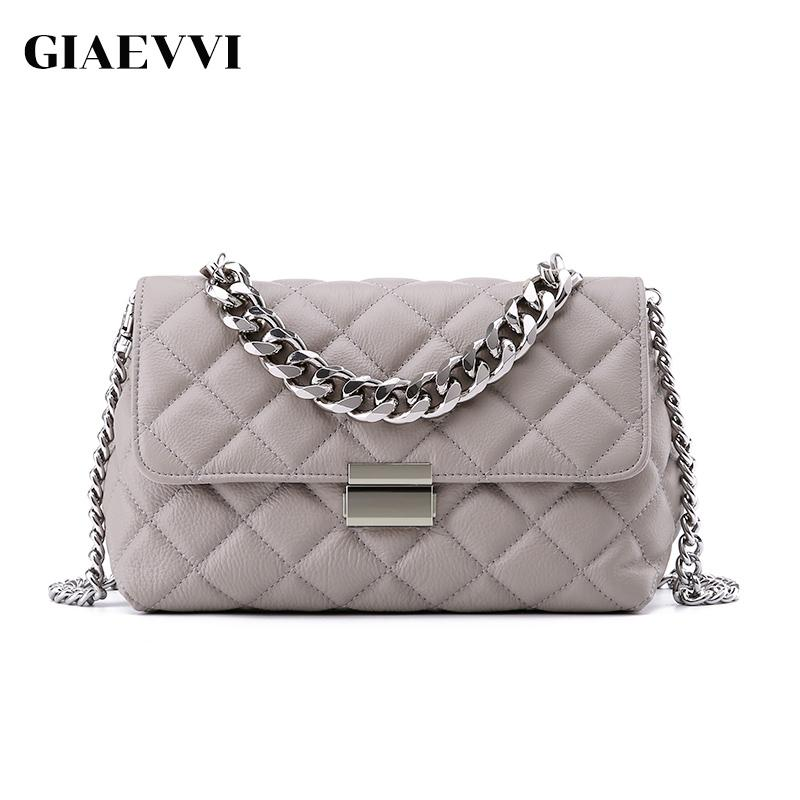 GIAEVVI Luxury Genuine Leather Handbag Women Messenger Bags Chain Shoulder  Bag Designer Clutch Crossbody Bags Ladies Wristlets Cheap Bags Cute Purses  From ... 9fe0aac5bfc3b