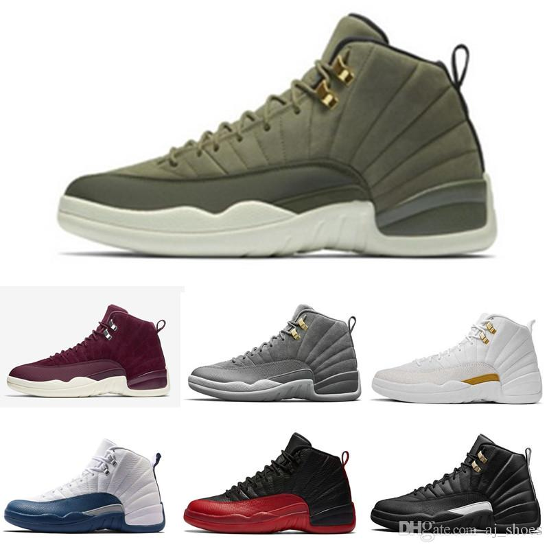 e2ccefa9e61b 2019 High Quality 12 12s OVO White Gym Red Dark Grey Basketball Shoes CP3  Men Women Taxi Blue Suede Flu Game CNY Sneakers Sports From Aj shoes