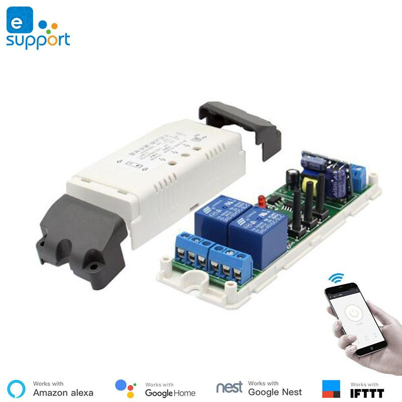 EweLink smart 2 Channel 5V-32V APP Remote Control WIFI Wireless Switch  Socket For Smart Home work with google nest Amazon Alexa
