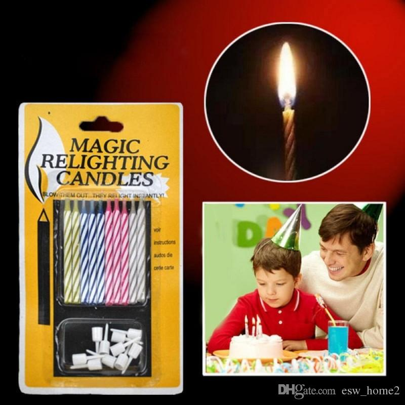 Magic Relighting Candles For Birthday Fun Party Cake Boy Girls Trick Toys Toothpick Decorations Votives Votivo Candle From