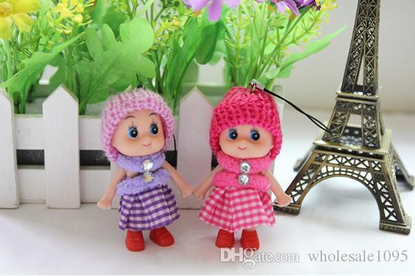 Mini Plush Saia Boneca Pingente Para Presentes de Natal Das Crianças Decoração Favor Do Casamento BRINQUEDOS YH1137
