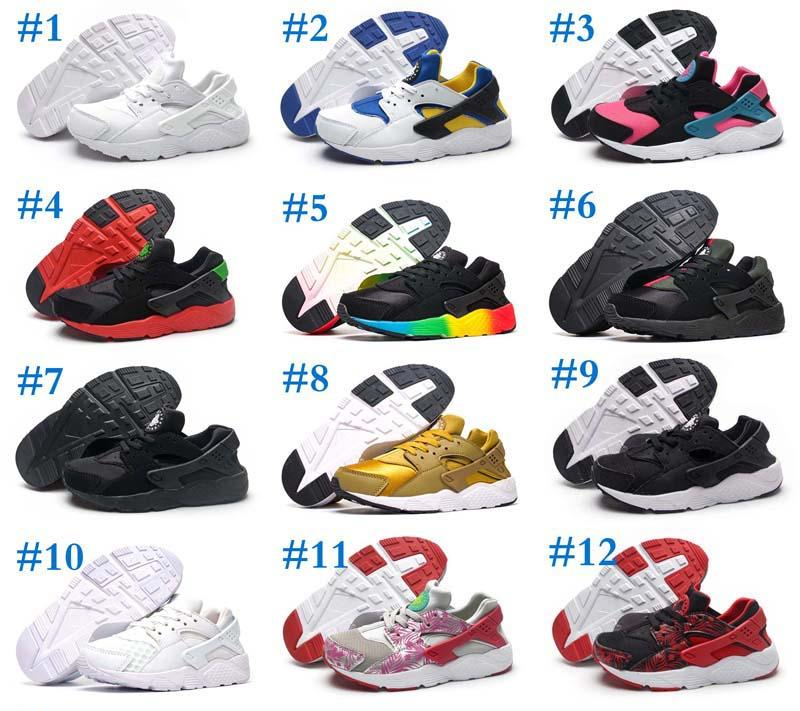 7a7b563780 Monica89 Black Red Air Huaraches Kids Running Shoes For Boys Girls White  Blue Sneakers Huarache Children'S Trainers Sport Shoes Size 11C 3Y Cheap Kid  ...
