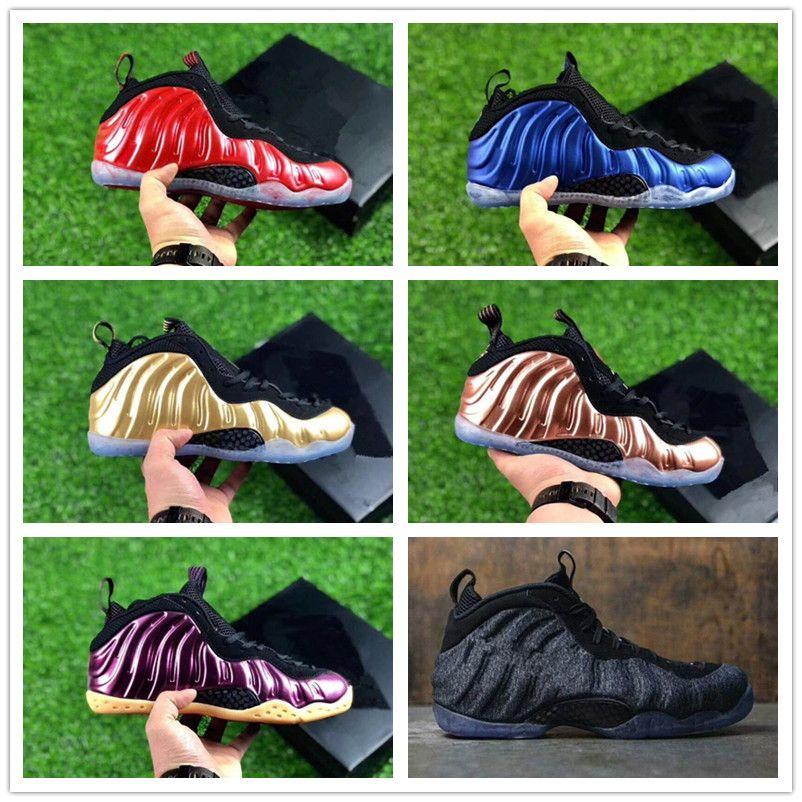 reputable site f616f 3f2a1 New Penny hardaway 1 Foam One Olympic Black Blue Denim Foams Basketball  Shoes AAA quality Zapatillas Mens Luxury Designer Sneakers EUR 40-46