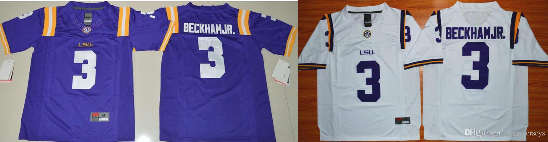 official photos 9fa2c 7d90b LSU Tigers #3 Odell Beckham Jr. Vintage Mens College American Football Pro  Sports Team Jerseys Shirts Cheap Stitched Embroidery on sale