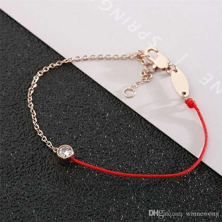 European Red String Bracelet Titanium Temperament Year Of Fate Does