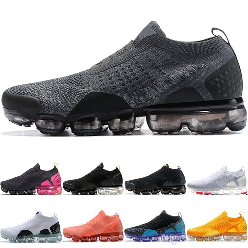 buy online d68e0 91c64 Nike Air Max Vapormax Moc 2.0 Airmax VM MOC 2.0 Hombres Mujeres Zapatos  Corrientes Núcleo Triple Negro Blanco Trigo Gris Oreo Hombres Baratos  Atlético Sport ...