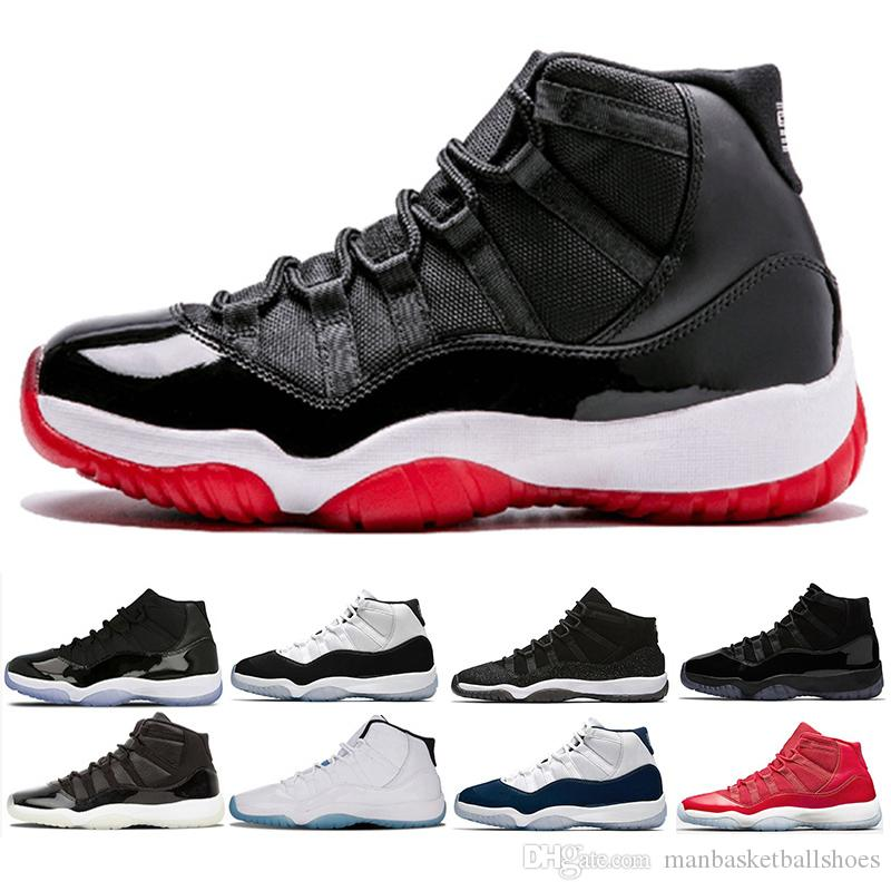 f04517f8fc4fd7 Bred 11 Basketball Shoes Olympic Prom Night White Gym Red Navy Gum Concord  Velvet Heiress Sneakers Men 11s Lows XI Sports Shoes Designer Shoes  Sneakers For ...