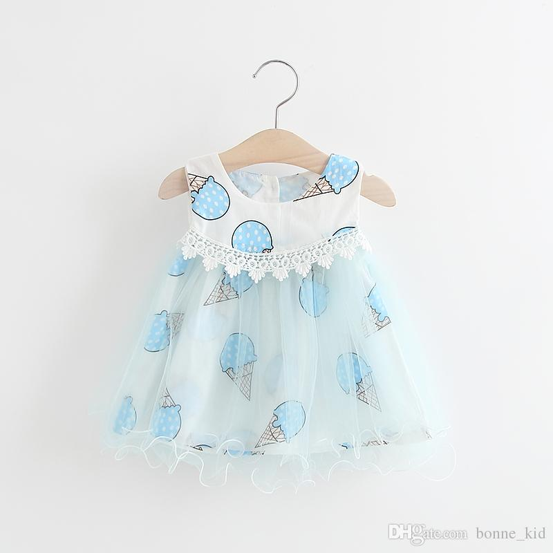 7e13c9f86 2019 Blue Ice Cream Baby Girl Princess Tutu Dresses Lace Layered ...