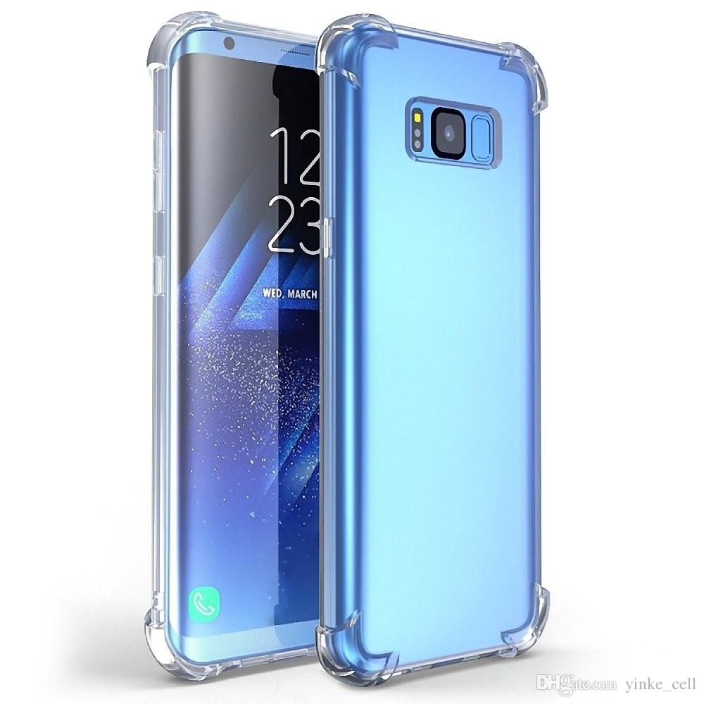official photos 7d290 a1f20 Shockproof Soft Transparent Mobile Phone Case Shell Protect Cover  Anti-knock Clear Back Cover For Samsung GALAXY S8 5.8 Inches