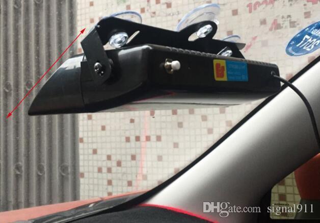 DC12V 14*3W Bright LED car front windshield warning lights,dash emergency light,visor strobe light,8flash