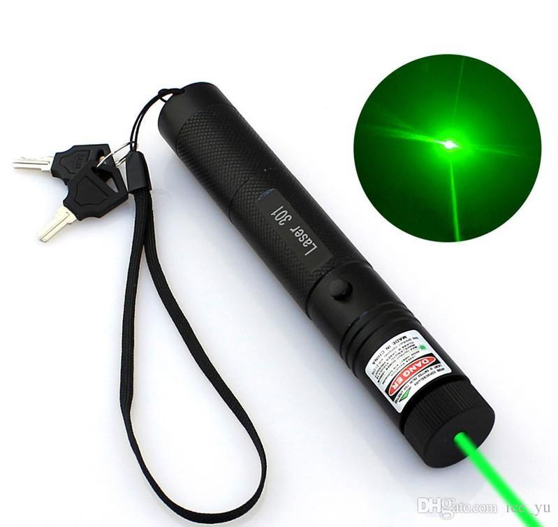 Adjustable Focus Burning Green Laser Pointer Pen 301 532nm 405nm 650nm Continuous Line 500 to 10000 meters Laser range Battery Not Included