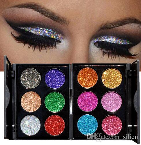 1set 12 Color Diamond Glitter Eyeshadow Palette Gold Shine Eyeshadow Glitter Shiny Eyeshadow Blue Eye Shadows Cosmetics Tool Eye Shadow Beauty Essentials