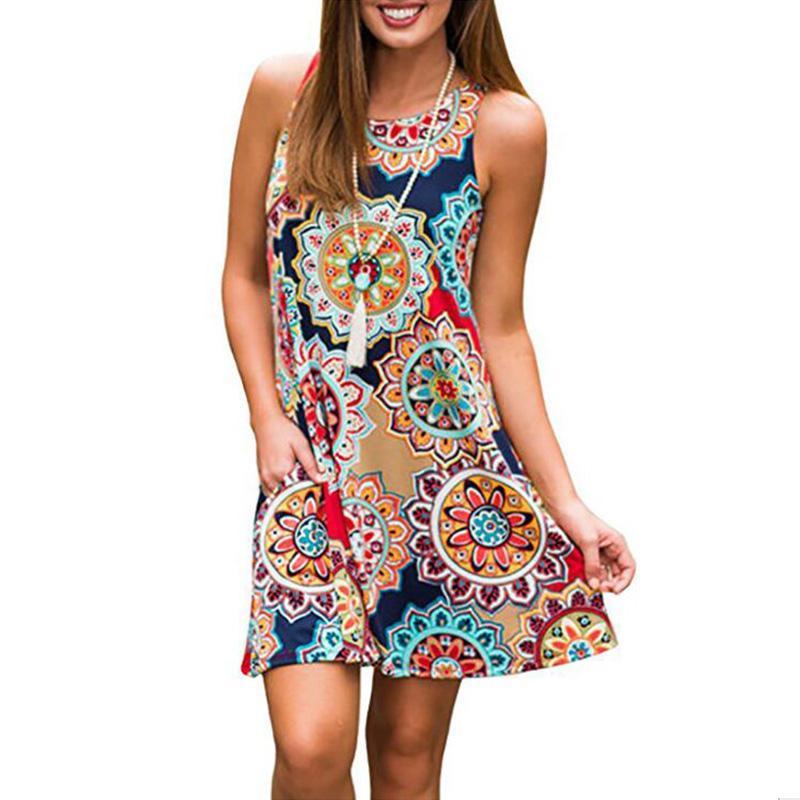 98d49f6bdc4e Fashion Designer Runway Dress Summer Women Sleeveless Floral Print Heart  Beaded Indie Folk Casual Loose Vintage Dress Teenage Party Dress Casual  Evening ...