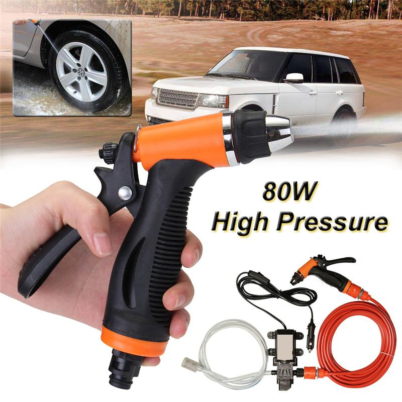 12v Car Washer Guns Pump High Pressure Cleaner Auto Care Portable Washing Machine Hand Electric Cleaning Wash Device