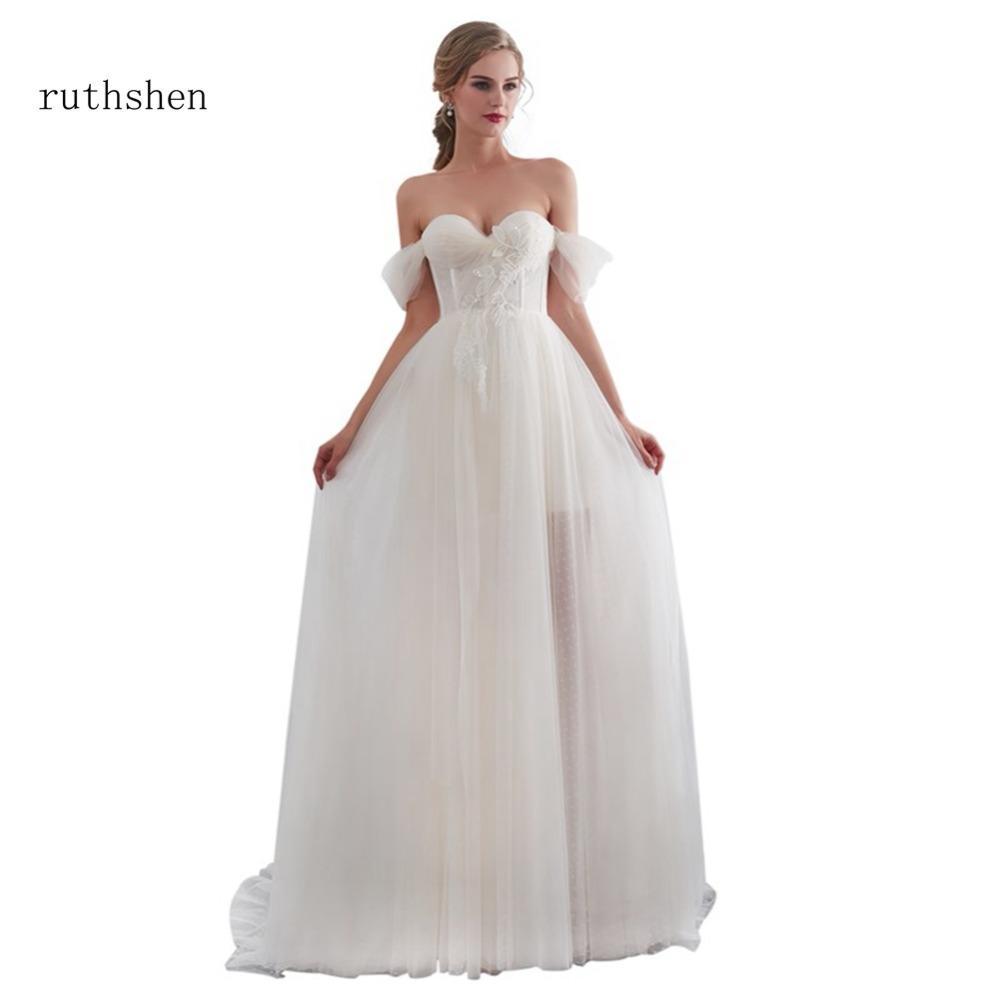 Wholesale Robe De Mariage 2018 Real Wedding Dresses Luxury Sweetheart Neck  Appliques Ruched A Line Bridal Gowns Vestidos De Novia Online with   161.82 Piece ... 1d950090870c
