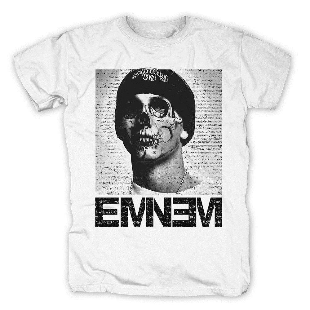 Eminem Skull Face T Shirt Customized Your Own Design Funny Shirt