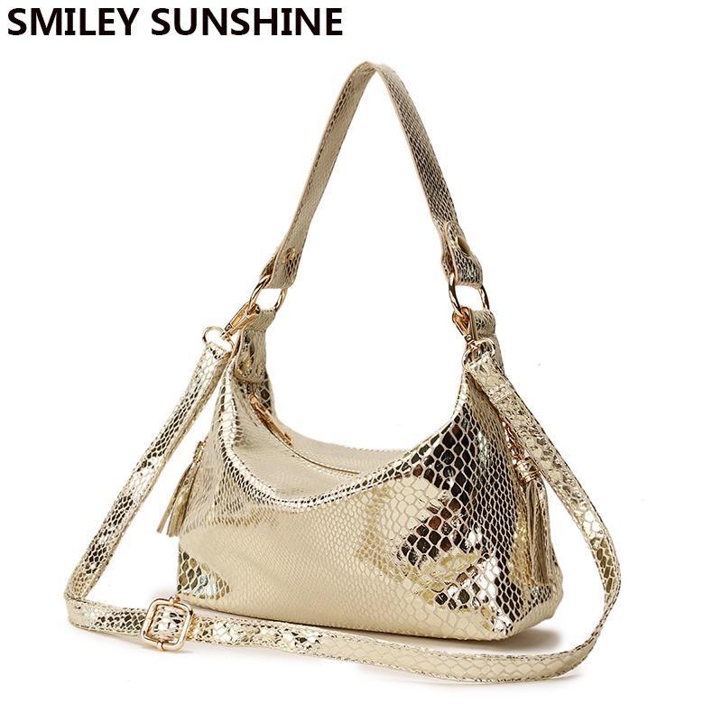 421cc5871 Compre SMILEY SUNSHINE Luxo Mensageiro Saco De Ouro Mulheres Pequenas Bolsas  De Moda Hobo Ombro Sacos Crossbody Feminino Saco De Mão Embreagem Sac  D18102407 ...
