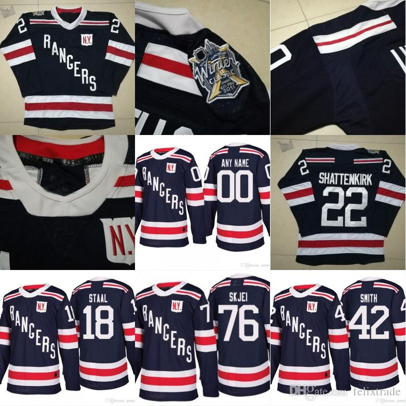 purchase cheap 0bd61 5fb4d New York Rangers 2018 Winter Classic Jersey 22 Kevin Shattenkirk 76 Brady  Skjei 42 Brendan Smith 18 Marc Staal All Stiched Hockey Jerseys