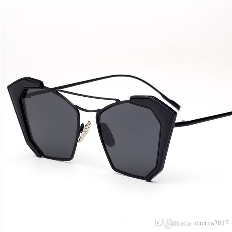 aaeea9179577c Brand Designer Gradient Cat Eye Sunglasses Trending 2018 Fashion Sun ...