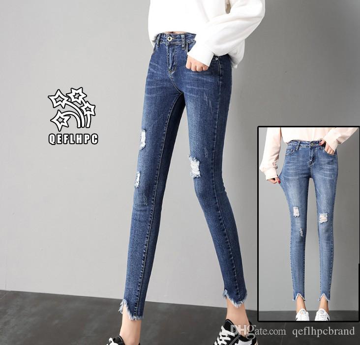 3afcc87525b Ladies Sexy Skinny Jeans Women High Waisted Slim Fit Denim Pants Slim Denim  Straight Biker Skinny Ripped Jeans Pencil Pants Trousers A3012  Women  Clothing ...