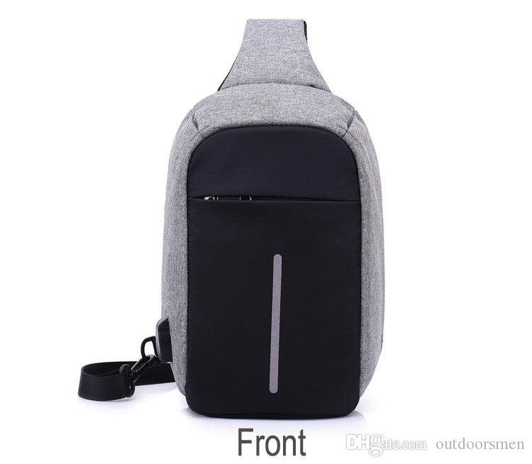 Canvas Men Backpack Anti Theft With Usb Charging Laptop Business ... 241120f53068
