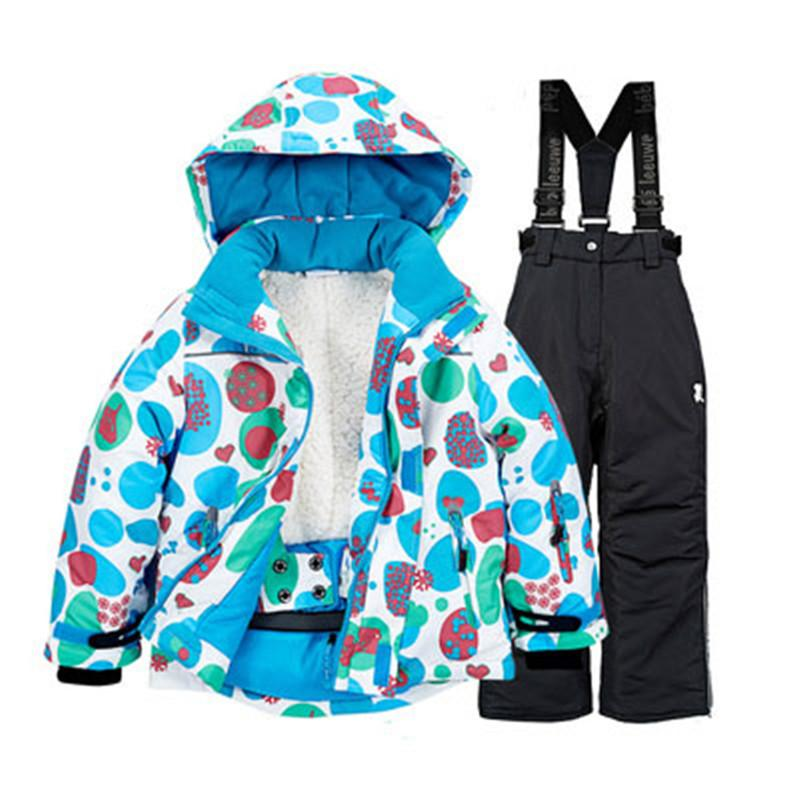 b5cf156f2 2019 35 Children Girls Or Boys Snow Suit Outdoor Sports Wear Snowboarding  Clothing Thermal Winter Ski Kids Jacket And Bib Snow Pant From Pothos, ...