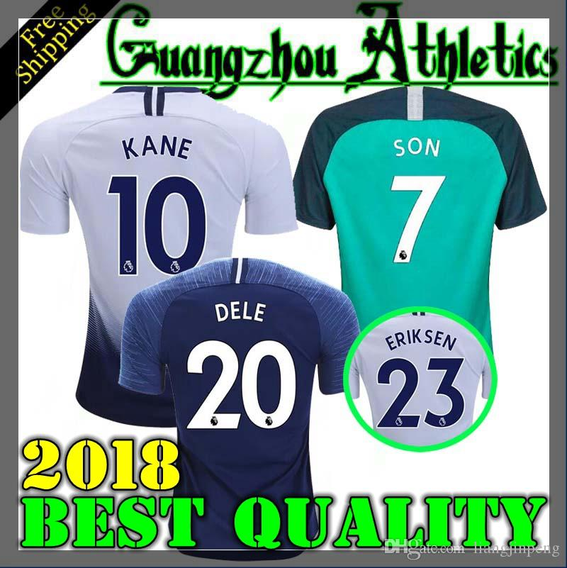 858acf6a8 18 19 Tottenhames KANE Jerseys Home Away Third White Soccer Jersey ...