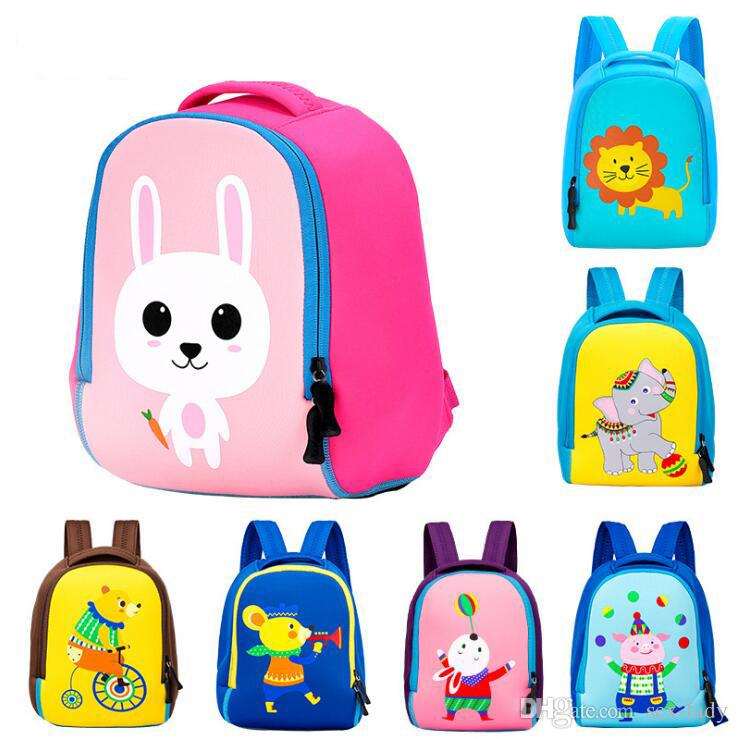 87c9347120 Toddler Kids Cute Animal Printing Backpack Children 3D Neoprene School Bags  Kindergarten Baby Girls Boys Cartoon Zoo Pack Rabbit Notebook Backpacks  Discount ...
