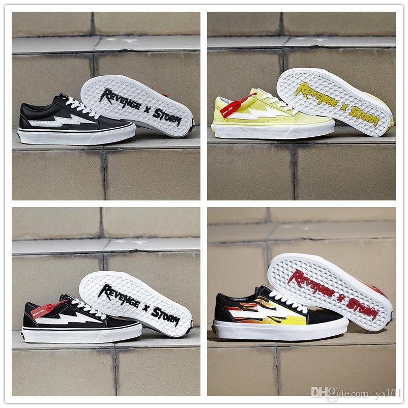 32e0605ac07e 2018 Cheap Sale Whit X Revenge X Storm Old Skool 2 Lightning Canvas Casual  Shoes For Women Mens Pop Up Store Red Fashion Sneakers Size 35 44 Dansko  Shoes ...