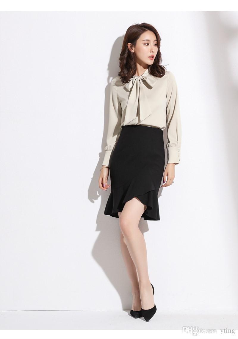 d4a8c4038 2018 verano nueva falda corta temperamento de las mujeres del estilo de  Corea Falda de cola de pez salvaje delgado de cintura alta falda delgada