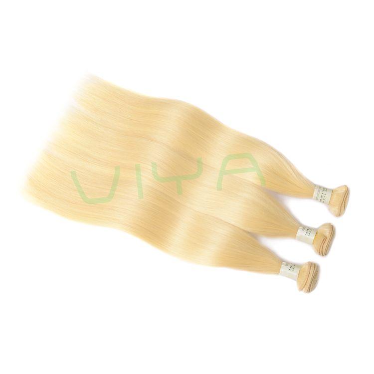 613 Honey Blonde Color Silky Straight Virgin Human Hair Viya Mink Brazilian Virgin Hair Blonde Human Hair Extensions Pure Dyed Color