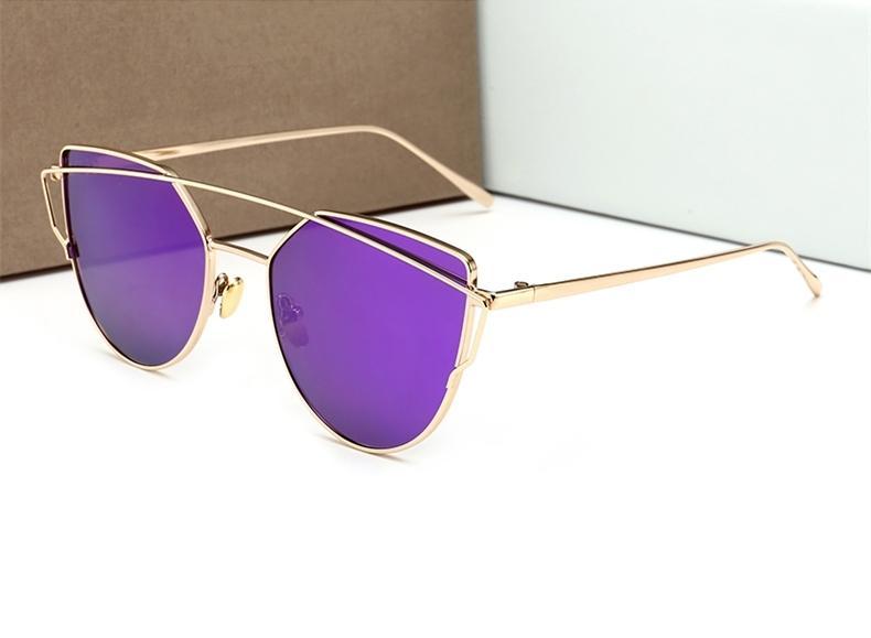 c69dfaf626 5232 Cat Eye Hipster Sunglass Unisex Metal Frame Flat Double Bridge ...