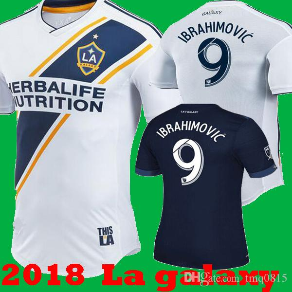 new product dcc81 6e310 2018 2019 La galaxy zlatan IBRAHIMOVIC GIOVANI Home White Soccer Jerseys 18  19 LA galaxy Away Blue KAMARA J.DOS SANTOS los angeles Shirts