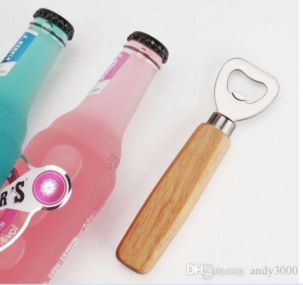 Stainless steel wooden handle Red wine beer bottle opener bar tools