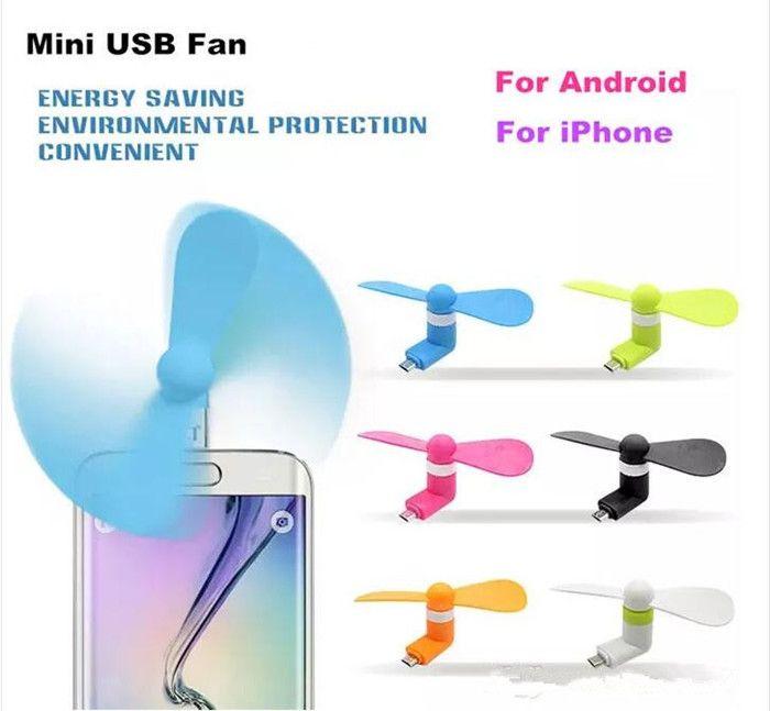 Moda Mini Cool Micro USB Fan Teléfono móvil USB Gadget Cooler Fan Tester teléfono celular para tipo-c Samsung s9 s8 plus