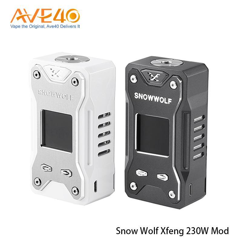 Autentico Laisimo Snowwolf Xfeng 230 W Box Mod 230Watt E-Sigaretta Vape Mod Sigelei Branch Marca Vendita calda 100% Originale Lupo di neve