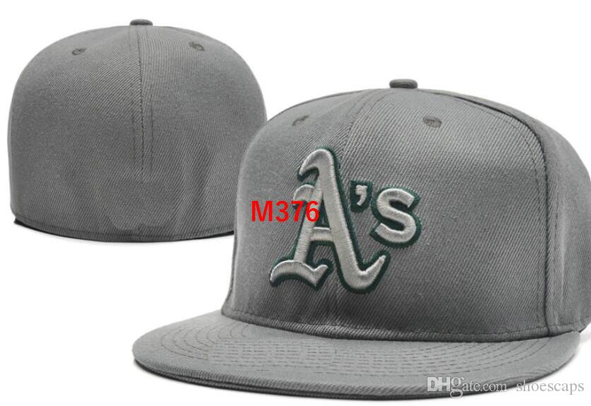 Athletics Team Fitted Hats Baseball Embroidered Team Letter Flat ... 9d03e74da