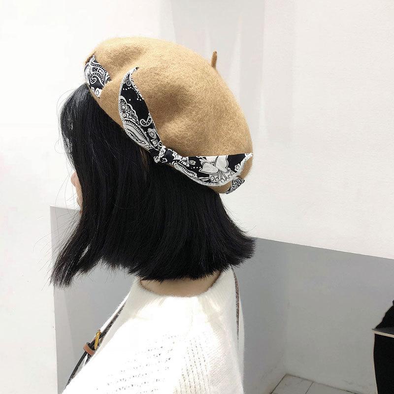 Compre Dama De Primavera Y Invierno Boinas Sombrero Sombrero De Pintor  Sombrero De Lana De Mujer Vintage Boinas De Color Sólido Casquillo Femenino  Caminar ... 5c9c13059fa