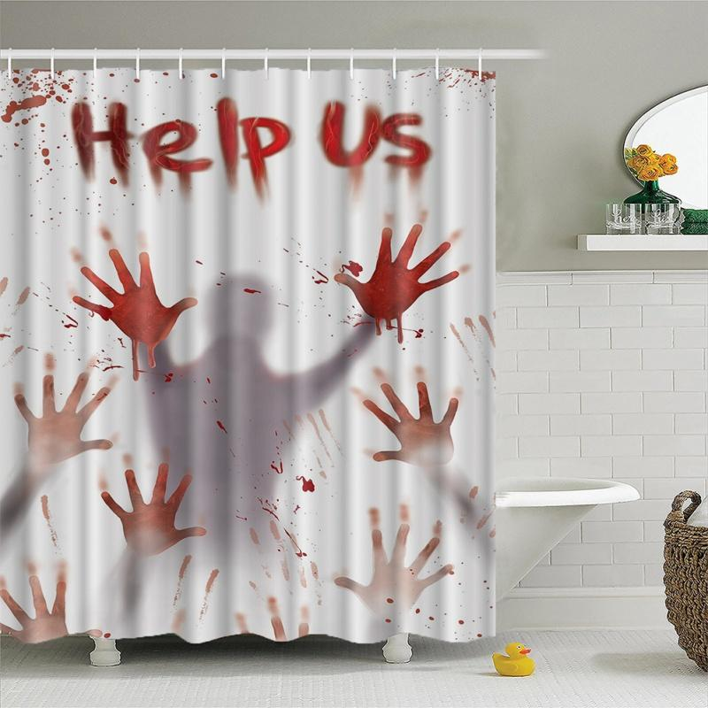 2019 Halloween Pattern Creative Shower Curtain 3d High Definition