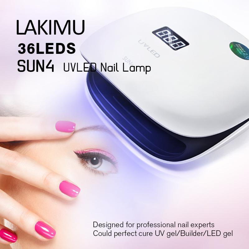 2019 Lakimu Professional LED UV Lamp Gel Nail Polish Drying Power ...