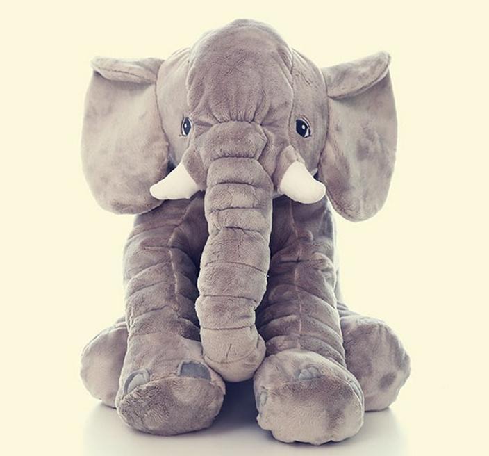 Funny 60cm Giant Elephant Plush Toy Soft Skin Infant Stuffed Animal