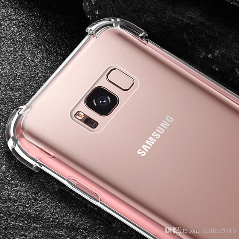 Für Iphone XR XS MAX 8 X 7 6 6 S Samsung S9 S8 Plus Hinweis 9 8 Abdeckung Weiches Luftpolster TPU Acryl Für Iphone8