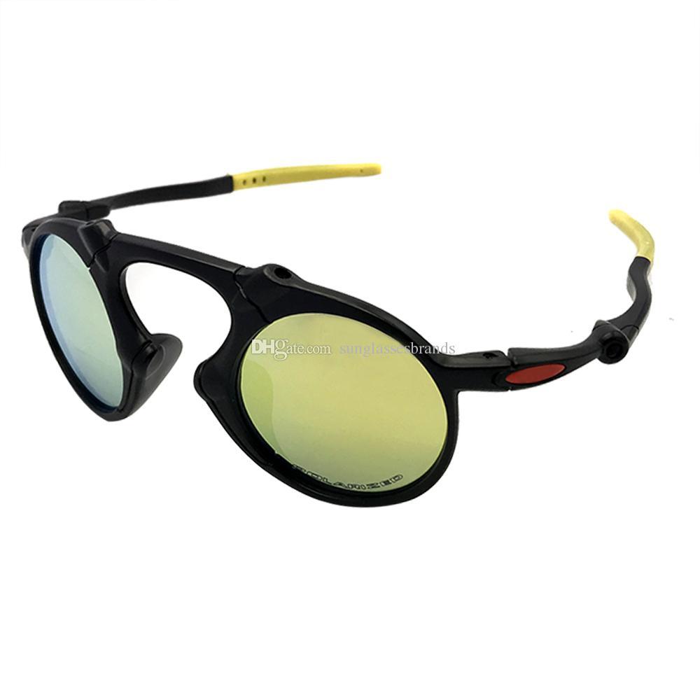 8679e2eee6c7 Designer Sunglasses O 6019 Mado Man Dark Carbon Prizm Daily Black Frame  Gold Mercury Iridium Plarized Lens OK83 Eyeglasses Sunglasses Hut From ...