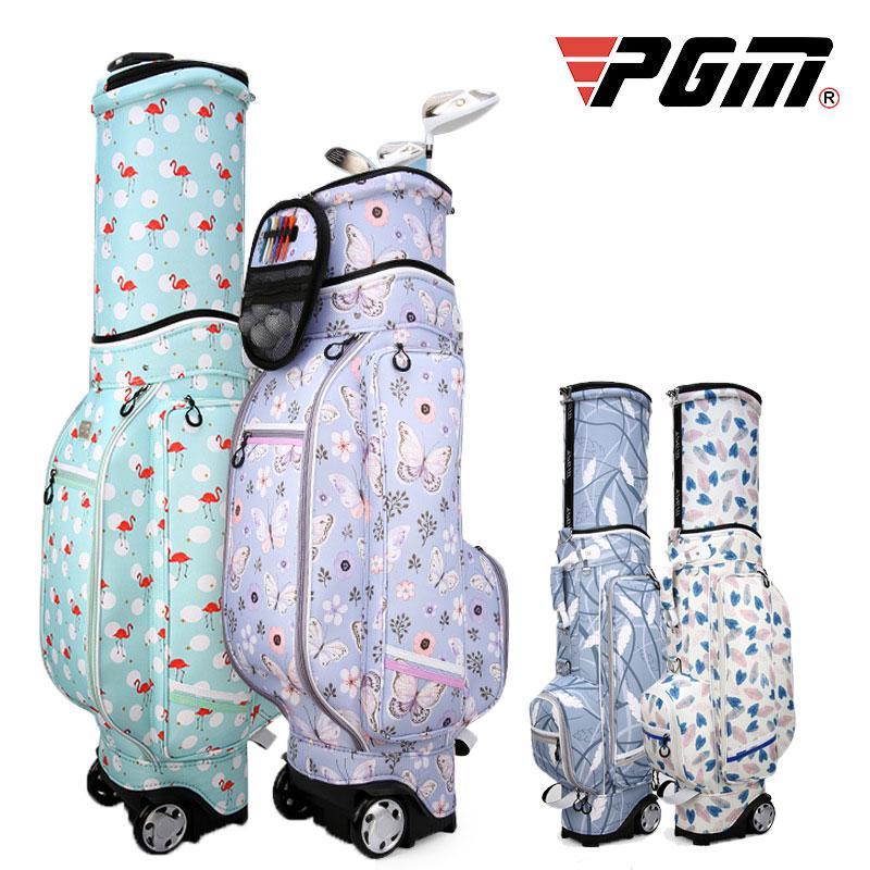 43fc24b467d0 Pgm Golf Standard Bag Ladies Printing Waterproof Golf Bags Multi-Purpose  Large Capacity Travel Bags With Wheels D0476